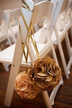 Fabric pom-poms #wedding #DIY