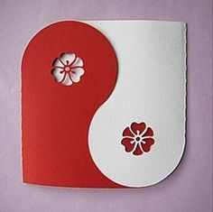 Craft for boyfriend – yin & yang   Handmade Cards