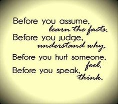 Don't pass judgement on anyone