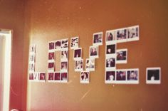 Implement this by doing a name concept photo wall will look great too.