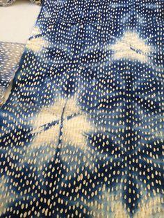 Akiko Ike. Chiku Chiku beautiful old nappies reused. Indigo dyed