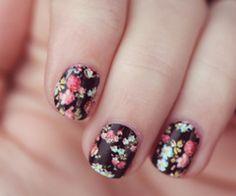 vintage nail art-