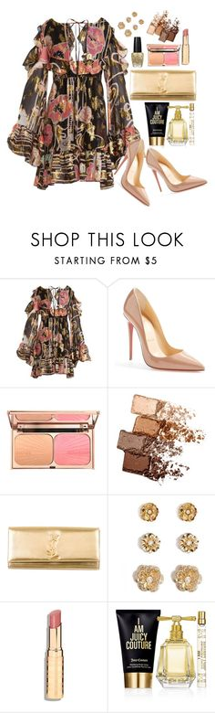 """""""For fun"""" by kimzarad1 ❤ liked on Polyvore featuring Dundas, Christian Louboutin, Maybelline, OPI, Yves Saint Laurent, Forever 21 and Juicy Couture"""