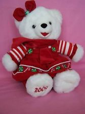 Dan Dee Snowflake Teddy 2009 red peppermint christmas plush stuffed animal kids