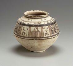 Globular ovoid jar Near Eastern, Iranian, Early Bronze Age, B. Ceramic Clay, Porcelain Ceramics, Ceramic Pottery, Ancient Near East, Ancient Art, Persian Beauties, Pottery Videos, Persian Motifs, Greek Art