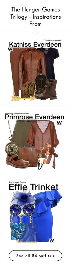 """""""The Hunger Games Trilogy - Inspirations From"""" by wearwhatyouwatch ❤ liked on Polyvore"""