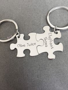 Olive Juice Elephant Shoes Keychains for Couples