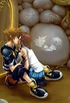 One of the best. The first and best real love between Sora and Kairi fan art I saw.
