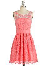 BB Dakota When the Night Comes Dress in Coral | Mod Retro Vintage Dresses | ModCloth.com