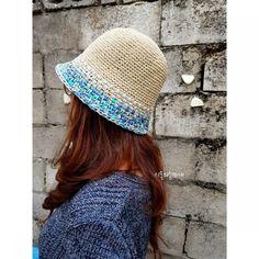 """""""창늘리기가 사라졌다""""...벙거지모자/여름밀짚모자/쉬운모자뜨기 : 네이버 블로그 Crochet Beanie Hat, Beanie Hats, Crochet Hats, Crochet Summer Hats, Scrunchies, Baby Knitting, Headbands, Bucket Hat, Winter Hats"""