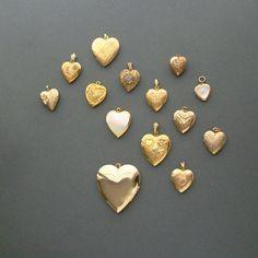 Vintage Heart Locket . Danecraft Floral . by pinguim on Etsy, $52.00