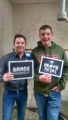 This trooper thought he was just coming in for an impression but he ended up leaving with braces!! Thanks Ross for being such a rockstar patient!!