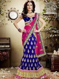 Blue Silk Lehenga Choli With Sequins And Zari Work Blue Lehenga, Silk Lehenga, Indian Wedding Outfits, Indian Outfits, Indian Clothes, Lehenga Choli Online, Lehenga Collection, Traditional Sarees, Indian Dresses