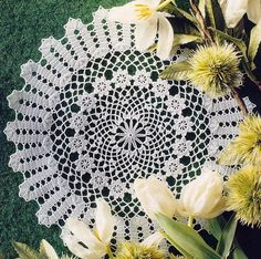 Round Bruges Crochet Lace mat - Magic Crochet #120