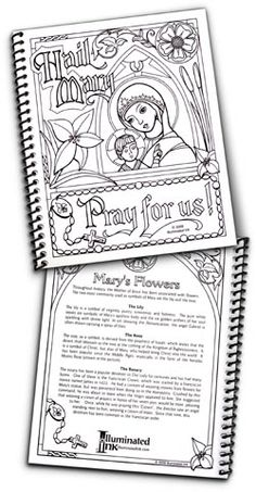 catholic coloring pages hail mary - photo#14
