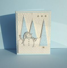 Snow Much Fun by - Cards and Paper Crafts at Splitcoaststampers Merry Christmas Card, Stampin Up Christmas, Handmade Christmas, Holiday Cards, Christmas Crafts, Punch Art Cards, Snow Much Fun, Snowman Cards, Winter Cards