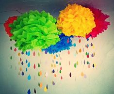 New baby diy projects nursery pictures Ideas Rainbow Room, Rainbow Nursery, Rainbow Theme, Kids Rainbow, Rainbow Cloud, Rainbow Art, Crafts To Make, Crafts For Kids, Diy Crafts