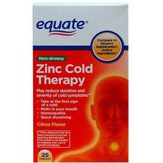Equate Zinc Cold Therapy Citrus Flavor Tablets, 25 ct