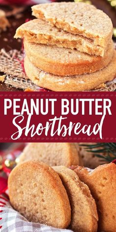 you looking for an easy but unique Christmas cookie? This Peanut Butter Shortbread recipe is your winner! It's crumbly and buttery like traditional Scottish shortbread, but with flavours of peanut butter and honey all the way through. The best twist o Easy Cookie Recipes, Homemade Desserts, Baking Recipes, Dessert Recipes, Butter Shortbread Recipe, Shortbread Recipes, Best Cookies Ever, Cheesecake, Peanut Butter Recipes
