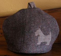 Vintage Harris Tweed Tea Cozy Cosy with Appliqued by chameleonCMC, $25.00