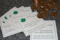 Super cute St. Patrick's day scavenger hunt