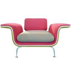 Hoje uma verdadeira raridade, a Lounge Arm Chair de Alexander Girard, 1968 USA