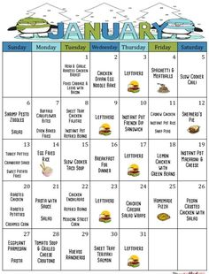 January 2019 Meal Planner – Monthly Meal Planner – Weekly Meal Planner – Budget Planner – Menu Plan with Grocery Lists & Recipes – January - Meal Planning Family Meal Planning, Budget Meal Planning, Cooking On A Budget, Weekly Menu Planning, Weekly Meal Plan Family, Weekly Dinner Plan, Easy Cooking, Food On A Budget, Meal Planing