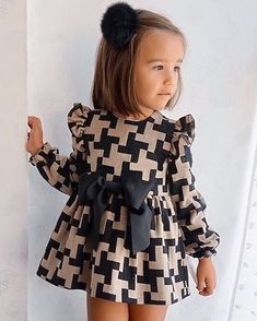 Sewing on children patterns needlework Toddler Fashion children needlework Patterns Sewing Baby Girl Dress Patterns, Baby Dress Design, Little Girl Outfits, Kids Outfits Girls, Little Girl Fashion, Little Girl Dresses, Baby Outfits, Baby Dresses, Children's Outfits