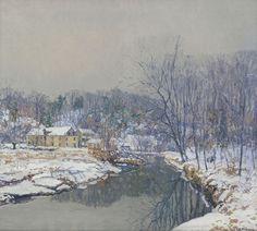 The Mill in Winter by Edward Redfield