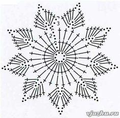 Wonderful DIY Crochet Snowflakes With Pattern - Her Crochet Maravillosos copos de nieve de ganchillo DIY con patrón - Su Crochet deko Mandala Au Crochet, Crochet Snowflake Pattern, Crochet Diy, Crochet Stars, Crochet Snowflakes, Crochet Flower Patterns, Doily Patterns, Thread Crochet, Crochet Motif