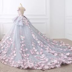 Floral Lace Wedding Dresses Ball Gowns With Flowers – alinanova floral wedding gown - Wedding Gown Colored Wedding Gowns, Floral Wedding Gown, Best Wedding Dresses, Cheap Wedding Dress, Bridal Dresses, Gown Wedding, Lace Wedding, Colorful Wedding Dresses, Wedding Dresses With Flowers