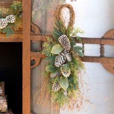 Woodland Winter Evergreen Door Hanger