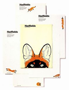Wolff Olins – Identity for Hadfields Paint, 1967. Designers Kit Cooper and Richard Peskett, illustration by Maurice Wilson