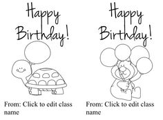 """FREE LESSON - """"Editable Birthday Card for Students"""" - Go to The Best of Teacher Entrepreneurs for this and hundreds of free lessons.  Pre-Kindergarten - 2nd Grade  #FreeLesson   http://www.thebestofteacherentrepreneurs.net/2013/12/free-misc-lesson-editable-birthday-card.html"""