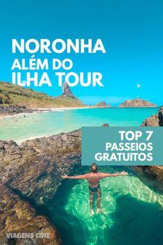 Fernando de Noronha além do Ilha Tour: Top 7 Passeios Gratuitos. Praias, trilhas, lugares históricos e experiências que você pode fazer por conta própria em #Noronha #IlhaTour