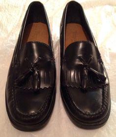 6e79694a9f3 Bass Weejuns Marietta II Black Leather Tassel Kiltie Loafer Size 6 M Mini  Handbags