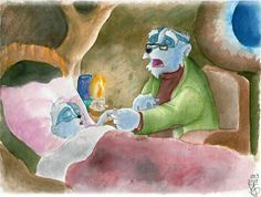 """Today I bought and watched the DVD Once upon a forest (in Germany the movie is called """"Meister Dachs und seine Freunde"""" which means """"Master Badger and his friends"""" ). It was also the first time I. Disney Animated Movies, Disney Animation, Badger, Germany, Deviantart, Artist, How To Make, Painting, Friends"""
