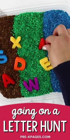 Go on a letter hunt with this super fun, hands-on early literacy activity. This alphabet letter hunt makes the perfect companion activity to go along with the classic children's book, Going on a Bear Hunt by Helen Oxenbury and Michael Rosen. It's a super fun, hands-on literacy activity to motivate your preschoolers to practice letter recognition skills