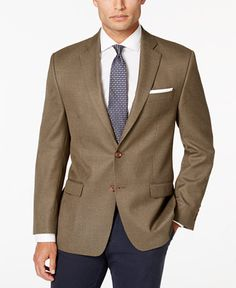 Lauren Ralph Lauren Men's Brown Neat Classic-Fit Sport Coat