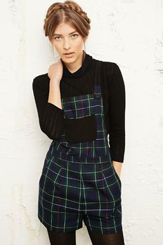 Is it a playsuit? Dungarees? A pinafore? Who cares it's TARTAN! Cooperative for Urban Outfitters #tartan #fashion #trends