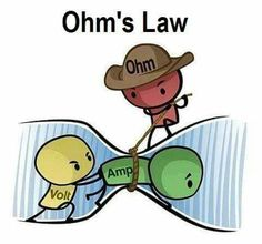 What is Ohm's Law? Know about the Ohm's Law Formula. How to solve the V=IR Examples? Learn to solve V=IR Solved Examples along with explanation and solution. Electronic Engineering, Electrical Engineering, Engineering Technology, Medical Technology, Energy Technology, Electronics Gadgets, Electronics Projects, Electronics Storage, Simple Electronics