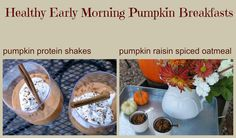 early morning healthy PUMPKIN recipes