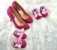 Custom Swarovski Fuchsia Rose Hot Pink crystal by TheCrystalShoeCo