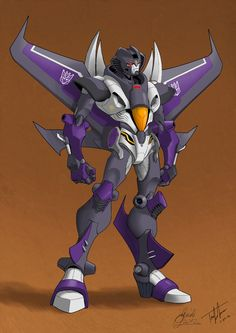 This is probably my favorite Seeker design ever. Of all time. Credit for this awesome Transformers art goes to Guidi with coloring by VaderPrime1. ~ Skywarp version ~