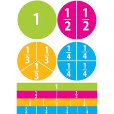 Pk) Math Die Cut Magnets Beginning Fractions Liquid Chalk Markers, Chalk Pens, Dry Erase Markers, Math Tutor, Math Skills, Math Lessons, Math Manipulatives, Math Fractions, Maths