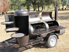 Trailer Grill, Custom Smokers, Barbecue Grill, Grilling, Homemade Smoker, Diy Smoker, Bbq Pit Smoker, Smokehouse, Cookers