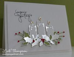 Seasons Greetings Paper Cards, Greeting Cards Handmade, Homemade Christmas Cards, Christmas Cards To Make, Xmas Cards, Handmade Christmas, Holiday Cards, Noel Christmas, Memory Box Cards