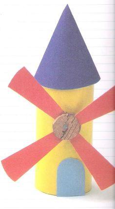 windmill craft basteln pinterest windm hle klopapierrollen und basteln mit kindern. Black Bedroom Furniture Sets. Home Design Ideas