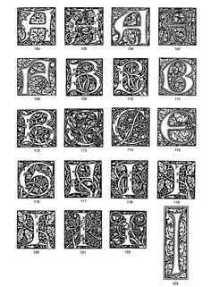 William Morris Design beautiful typography design