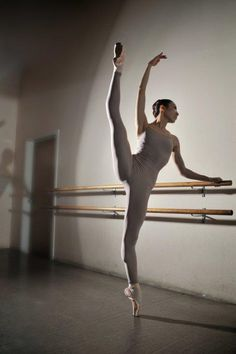 This is a beautiful picture it looks very extended in the legs, and me as being a dancer and taking ballet that os very good extension